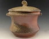 Ceramic Jar, Wood Fired Stoneware Jar, Holds 5 Cups.