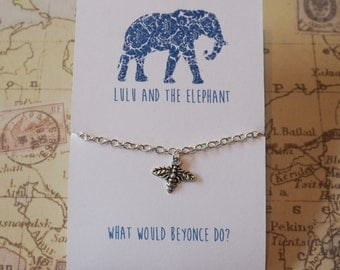 What Would Beyonce Do? - Silver Bumble Bee Bracelet