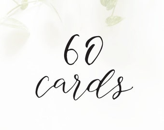 60 CARDS - for cards with the SAME customization only