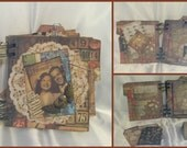 LoveCherishTimelessTreasureRomance Chipboard Album-One of A kind-Handmade-Scrapbook Album