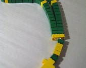Lego Rosary Catholic Children's Rosary Green and Yellow  First Holy Communion Lego Party Religious Gifts for Children