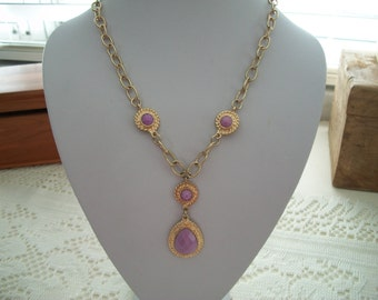 Lavender Y Necklace