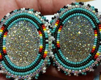 Native American Made Beaded Powwow Earrings