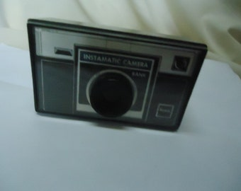 Vintage Plastic Toy Kodak Instamatic Camera Bank, Instant Savings For Instamatic Cameras, collectable