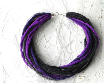 Gift for her, Felt Wool Jewelry, felted necklace, hand felted jewelry, wool necklace, original woman accessory, gift idea