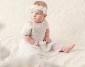 Baptism dress, baptism dress for baby girl, christening outfit, baby dress, Christening Dress-size 0m-9m