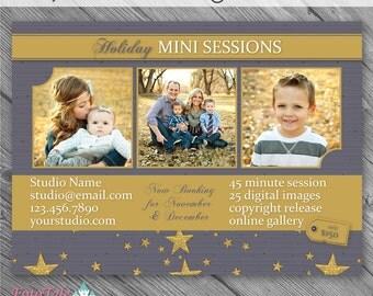 INSTANT DOWNLOAD - Rejoice Christmas Marketing Board 3- custom 5x7 photo template
