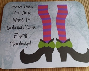Flying Monkeys Mouse Pad Witch Fun Sarcasm For the Office or Home, Fun Christmas Gift, Secretary Gift