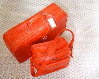 Orange Samsonite Set