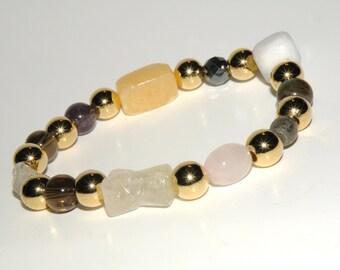 Memory Gemstone Healing Bracelet stretch *FREE SHIPPING USA* 471