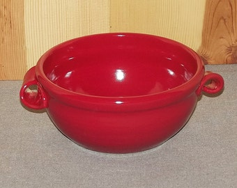 Red bowl Hand Thrown Pottery by Richard Martin
