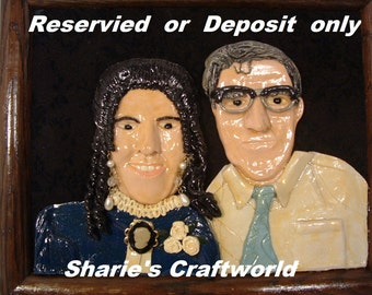 Deposit or Lawaway,  for a One of a Kind, Reprodution, Remake, Polymer Clay, Baked Clay, 3d Portrait, Picture, Photograph
