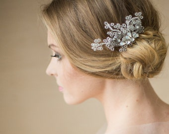 Wedding headpiece Wedding hair comb Crystal Bridal hair comb Bridal fascinator Bridal hair accessories Silver hair comb