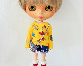 Sugarbabylove - Yellow Top set  for Blythe
