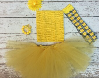 Songbird - Bright Yellow Toddler Tutu Skirt - Fits Sizes 6 months-5T