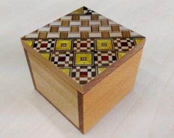 Small Box Kobako Japanese Wood Mosaic Yosegi