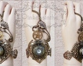 Flower locket Watch cuff
