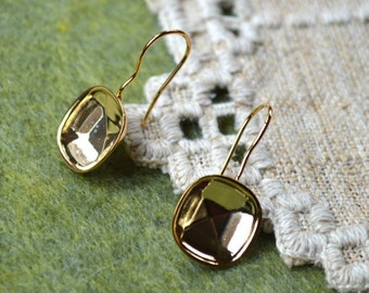 4pcs 2 Pair Earrings Gold-Plated Brass 28x14mm Fishhook French Hook 20 Gauge Earhooks Swarovski Findings