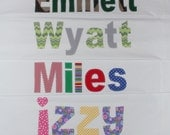 Childs Personalized Pillowcase - Boy Pillowcase, Girl, Unique Gift Idea, Kids Birthday, Summer Camp, Name Applique, Personalized Gift