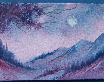 aceo art painting fantasy (ref 357)