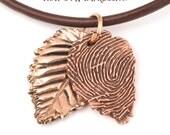 Fingerprint Autumn Leaf Pendants – Personalized Fingerprint and Handwriting Jewelry