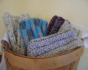 Crocheted finger less gloves/hand warmers