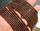 Hematite bronze - 3mm heishi - full strand - 215 beads - AA quality - 3mmx2mm - PHG228
