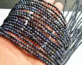 Dumortierite - 4 mm round beads -1 full strand - 98 beads - RFG891