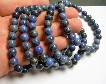 Dumortierite - 1 set - 8mm -  24 beads - A quality  - HSG2
