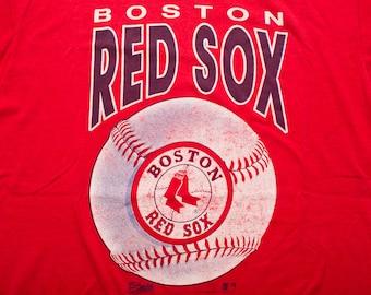 Boston Red Sox T-Shirt, MLB Baseball Tee, Screen Stars Best, Vintage 90s