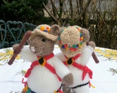 Handknitted Morris Dancing Mice