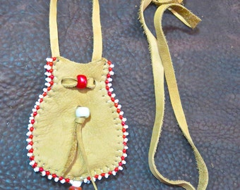Four-Sided Medicine pouch with Rare Trade Beads