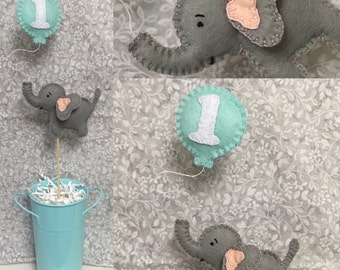 Elephant Cake Topper, first birthday, baby showers, decor
