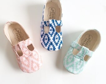 Baby Girl Shoes Toddler Shoes Infant Shoes Soft Sole Shoes Aztec Baby Shoes Tribal Baby Shoes Pink Shoes Navy Blue Shoes Mint Shoes- Aiyanna
