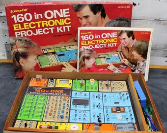 Vintage Science Fair 160 in One Electronic Project Kit
