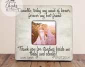 Personalized Today My Maid Of Honor Forever My Best Friend Picture Frame, Maid Of Honor Picture Frame, Maid Of Honor Gift