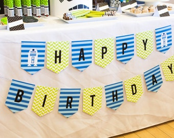 "Star Wars Theme Printable ""Happy Birthday"" Banner - Instant Download - Petite Party Studio"