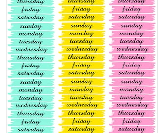 washi styled weekdays stickers for life planner vertical stickers for Erin Condren - Full Box Checklists Planner Stickers for EC To Do Tasks
