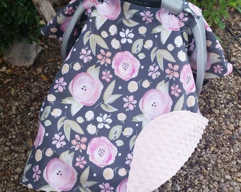 Baby Car Seat Canopy - Baby Car Seat Cover - Girls Car Seat Canopy - Floral : car seat cover and canopy - memphite.com