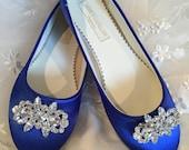Sapphire Blue Flats - Royal Blue Wedding Shoes - Wedding Shoes - Blue Flats - Blue Wedding Flats  Royal Blue Ballet Shoes - Royal Blue Flats