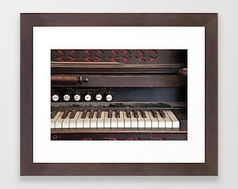 Fine Art Print Dusty Antique Vintage Piano