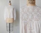 vintage batiste blouse / Edwardian cotton blouse / embroidered cotton blouse / Batiste blouse