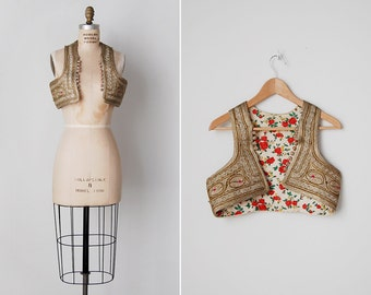 vintage Ottoman vest / antique embroidered vest / Turkish embroidered top / Sabine vest