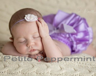 Lavender baby headband - Simple Baby Headband - Baby Girl Headband - Toddler Headband - Baby Photo Prop - Infant Headband
