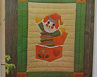 """Jack 'n the Box Quilt Fast & Fun Applique Pattern GGP 004 by Gingham Goose, Gwen Andrews UC Childrens, Infants Wall Crib Size 45"""" x 60"""""""