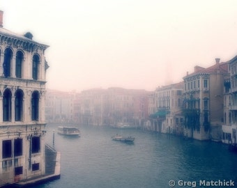 "Fine Art Color Travel Photography of Venice - ""Morning on the Grand Canal From the Rialto Bridge"""