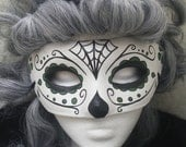 Day of the Dead Mask Green Spiderweb