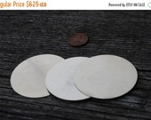 """On Sale 2 inch Disc-Nickel Silver Circle -24ga-2"""" CIRCLE-2 PK/--Stamping Blanks for Personalized Jewelry-Great for Ornaments or Key Chains"""