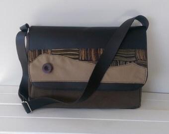 Leather Messenger Bag: Computer Bag Male or Female