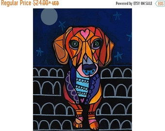 55% Off- Dachshund Doxie Angel Art Print Poster by Heather Galler (HG192117)  Dog